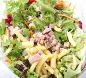 Salad with ham and cheese Stock Photos