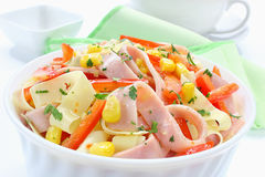 Salad with ham Royalty Free Stock Images
