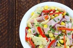 Salad with ham Stock Photos