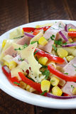 Salad with ham Stock Photography