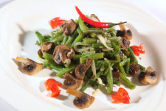 Salad with haricot and mushrooms Stock Photography