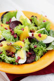 Salad with haulms Royalty Free Stock Photography
