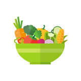 Salad - Healthy Organic Food vector illustration