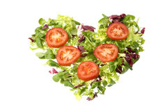Salad heart Royalty Free Stock Photo