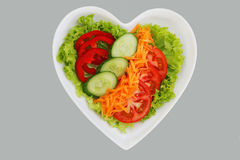 Salad heart Royalty Free Stock Photography