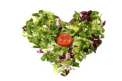 Salad heart Royalty Free Stock Image