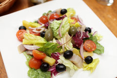 Salad with herring Royalty Free Stock Image