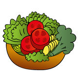Salad. An illustration of a salad on a neutral background Stock Photography