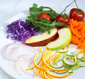 Salad ingredient on a plate Stock Photos