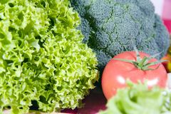 Salad ingredients Royalty Free Stock Image