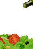 Salad ingredients. On a white background Royalty Free Stock Photography