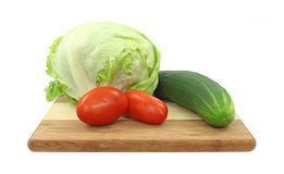 Salad ingredients on cutting board Stock Photography