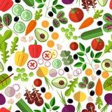 Salad ingredients seamless pattern Royalty Free Stock Images