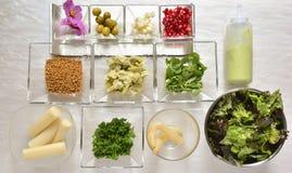 Salad ingredients Royalty Free Stock Photos
