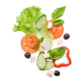 Salad Isolated In White, Top View Stock Photography