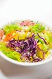 Salad isolated on white. Thai salad style isolated on white Stock Photography