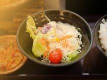 Salad in Japan food restaurant stock photo