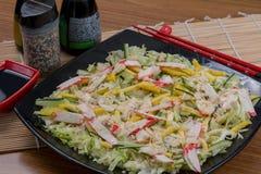 Salad japanese food. Japanese food background close diner Royalty Free Stock Photo