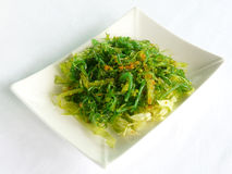Salad with japanese seaweed Royalty Free Stock Image