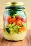 Salad in a jar Royalty Free Stock Image