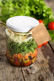 Salad in a jar Royalty Free Stock Photo