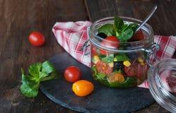 Salad in jar Stock Photo