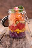 Salad in jar Stock Image