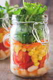 Salad in jar Royalty Free Stock Photo
