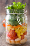 Salad in jar Stock Image