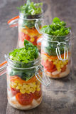 Salad in jar Royalty Free Stock Images
