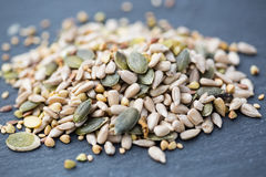 Salad kernels on slate board Royalty Free Stock Photography