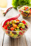 Mexican salad with hot pepper Royalty Free Stock Photography