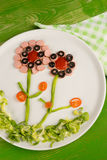 Salad for kids Stock Photo
