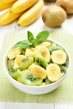 Salad from kiwi and banana Stock Images