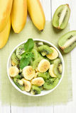 Salad from kiwi and banana Stock Photos