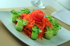 Salad of the Korean carrot Stock Images