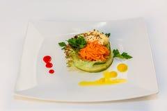 Salad with Korean carrot stock photos