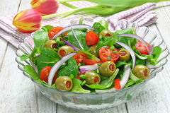 Salad of lamb's lettuce Stock Photography