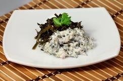 Salad of laminaria Royalty Free Stock Photo