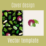 Salad leaves and herbs pattern cover Royalty Free Stock Photo