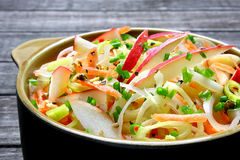 Salad with leek Royalty Free Stock Images