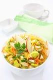 Salad with leek Royalty Free Stock Image