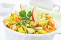 Salad with leek Stock Photos