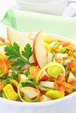 Salad with leek Royalty Free Stock Photos