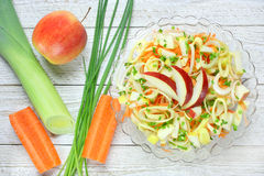 Salad with leek Royalty Free Stock Image