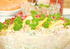 Salad with lemon - Banquet Stock Image