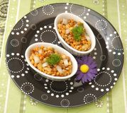 Salad of lentils Royalty Free Stock Images