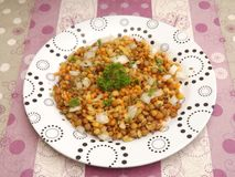 Salad of lentils Royalty Free Stock Image