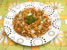 Salad of lentils Stock Photos