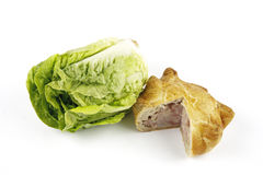 Salad Lettace and Pork Pie Stock Photos